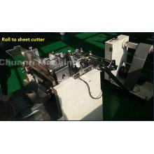 Rouleau automatique à la découpeuse de feuille pour la mousse, le film, bande industrielle