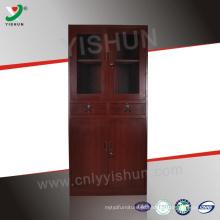 Aparência de madeira do escritório 2 gaveta e 4 porta fling gabinete