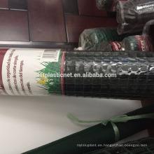 Red plástica plana / malla del refuerzo del césped / malla plástica de la protección de la hierba