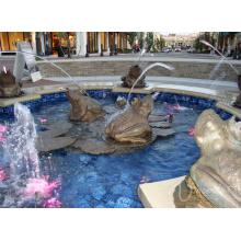 décoration de jardin en plein air bronze bronze grenouille fontaine