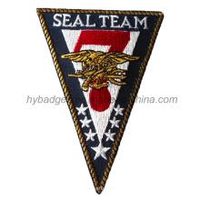 Значок армейской вышивки, Треугольник Форма Патч (GZHY-PATCH-009)