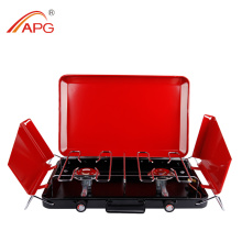 Two Burner Outdoor Gas Barbecue Grill Machine