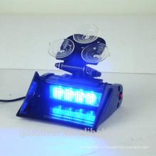 Golddeer LED aviso luz viseira com ventosas
