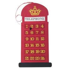 Natal telefone forma contagem regressiva advento calendário