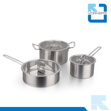 Popular 304 Aço Inoxidável Cookware Set Atacado