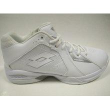 Männer Weiß PU Sport Basketball Schuhe
