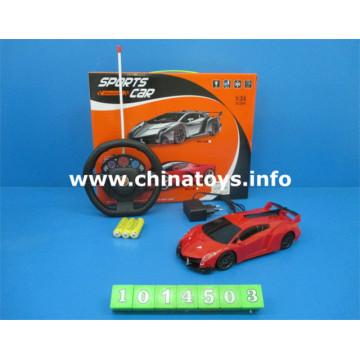 Venda quente de brinquedo de plástico 1: 24 4-CH R / C Car (1014503)