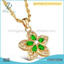 Cobre chapeado ouro cadeia de ligação torcida, pingente de ligação colar de corrente de ouro jóias