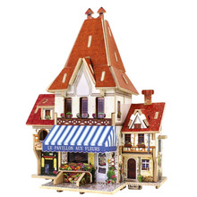 Wood Collectibles Toy for Global Houses-France Flower Store