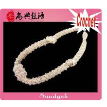 Mode Kragen Draht Hand Perle häkeln Halskette
