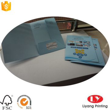 A4 Custom Paper Presentation Folder dengan Pocket