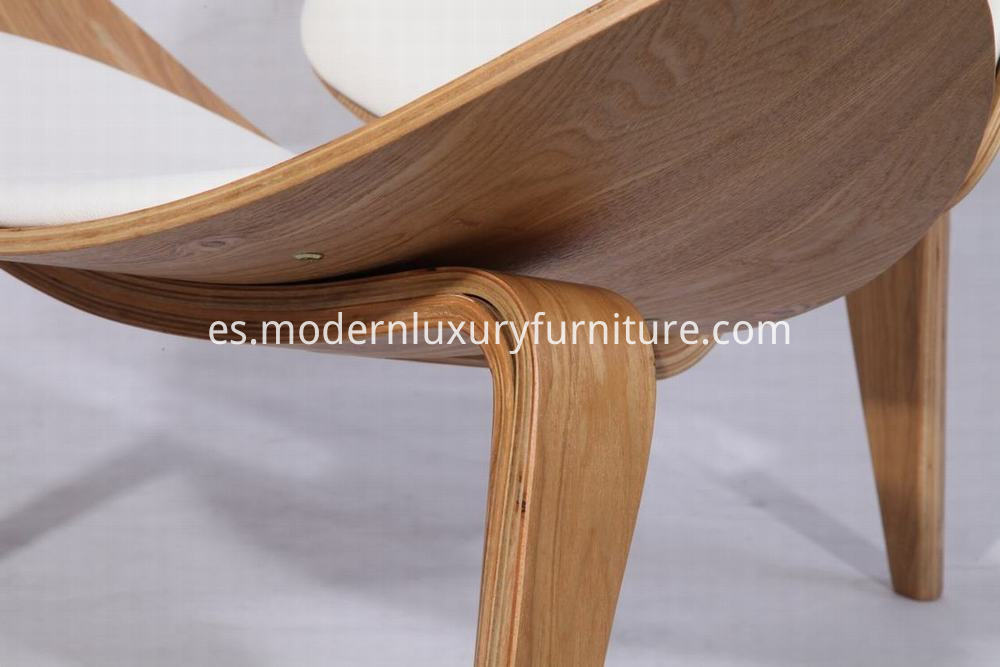 White Leather Shell Chair