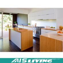 Meubles de cuisine en placage Meuble de cuisine en PVC Armoire de cuisine en mélamine AIS-K057