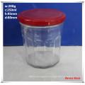 300ml Hexagonal Glass Jars with Red Twist-off Lids