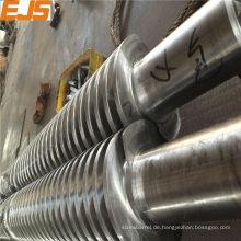 65/132 konische Doppelschnecken für die Verarbeitung von PVC-extruder