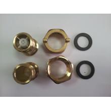 Conector de bronze do medidor de água com cor de bronze amarela