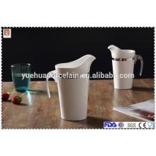 Pot en céramique en gros pot de lait en porcelaine avec poignée en plastique