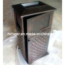 Cubo de basura, cubo de basura de aluminio, cubo de basura