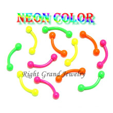Anel de sobrancelha personalizado anodizado cor doce original