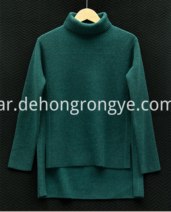 Dark Green High Necked Cashmere Women S Sweater
