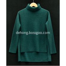 High-necked cashmere women's sweater