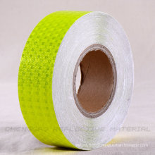 PVC Neon Yellow Honeycomb Adhesive Reflector Caution Tape (C3500-FY)