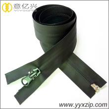Cremallera negra impermeable del n. ° 5 TPU para el impermeable