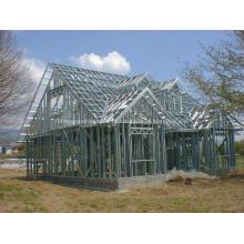 Casa pré-fabricada de aço de alta qualidade com bitola leve