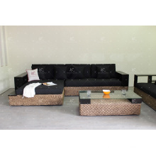 High Standard Wicker Furniture Water Hyacinth Sofa Set for Indoor Living Room
