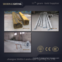 7m 9m 11m éclairage extérieur Q345 S355 pôle en acier