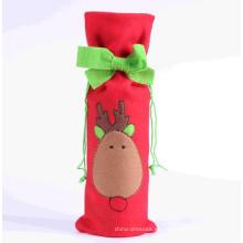 Vestido de Navidad Tapa de botella Decoración de botella de vino