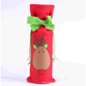 Tampa de garrafa de vestido de Natal Decoração de garrafa de vinho