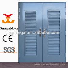 Puerta de acero glaseado ISO9001 con rejilla de ventilación