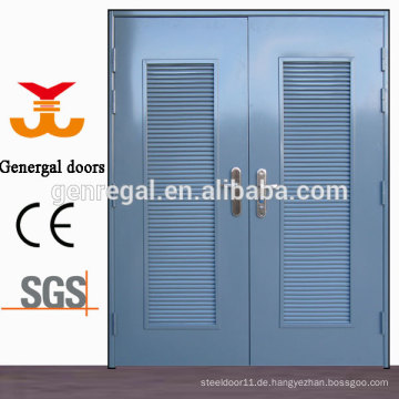 ISO9001 Glavanized Stahltür mit Entlüftungslamelle