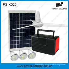 12V Solar Fan in 10W Solar Panel System with 3 LED Lights and Mobile Phone Charging