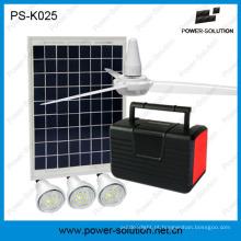 Sistema de iluminação 7ah solar portátil com carregamento do telefone do ventilador