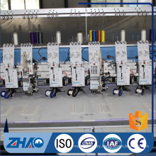 8 heads flat + double tapping device embroidery machine cheap price