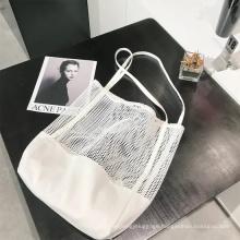 Simple Fashion Large Capacity Women Mesh Transparent Bag Double-Layer Large Beach Bags
