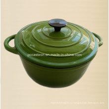 Зеленая чугунная посуда с эмалевым покрытием Китайская фабрика