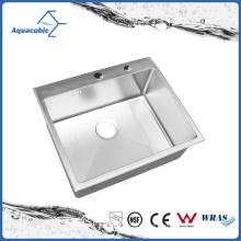 Pequeño fregadero de cocina simple del acero inoxidable hecho a mano (ACS6050R)