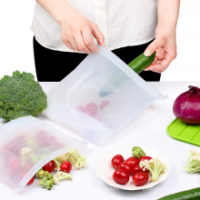 FDA Food grade reusable silicone storage bag Vacuum Ziplock Reusable Silicone Food Storage Bag
