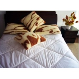 100% Cotton Pure White Wool Quilt