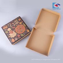 caixa de embalagem ondulada da pizza feita sob encomenda com etiqueta confidencial