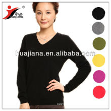 100% cashmere knitting women's basic sweater