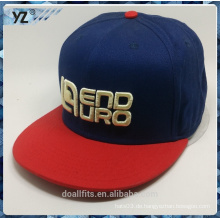 3D emboridery 6panel snapback cap gute qualität made in china