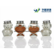 Kitchenware Clear Cute Glass Sauce Jars with Lids
