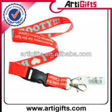 Promotion cheap free lanyard keychain