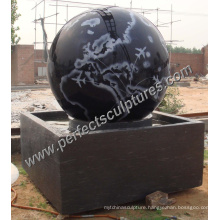 Stone Floating Ball Fountain with Granite Rolling Ball Fountain (SF-B091)