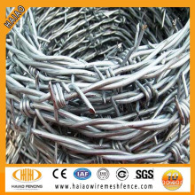 Hot dipped galvanized then powder coated barbed wire price per ton