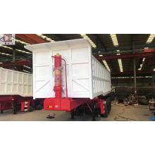 Semi-reboque do caminhão basculante do cilindro hidráulico de 3 eixos
